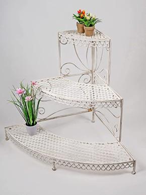 Formano Blumentreppe 88cm aus Metall beige -Deko für Haus und Garten Blumenständer Model 573582…