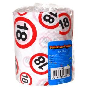 Toilettenpapier 18 zum 18. Geburtstag