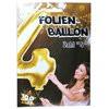 """1Stück Riesen-Folien-Ballon """"4"""", gold  Kunststoff, 1 m"""