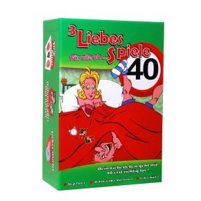 """Liebes-Spiel """"Für alle ab 40"""" mit 3 Liebes Spielen"""