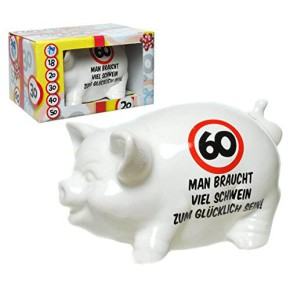 """Sparschwein """"60"""" zum 60. Geburtstag"""