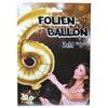 """1 Stück Riesen-Folien-Ballon """"6"""", gold 1m groß"""