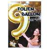 """1 Stück Riesen-Folien-Ballon """"4"""", gold 1m groß"""
