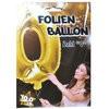 """1 Stück Riesen-Folien-Ballon """"0"""", gold 1m groß"""
