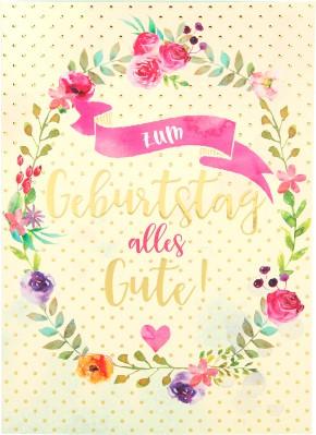 Depesche Portofino Klappkarten Geburtstagskarten 012- Zum Geburstag alles Gute!