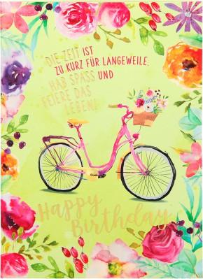Depesche Portofino Klappkarten Geburtstagskarten 018 - Die Zeit ist zu kurz für Langeweile. ...