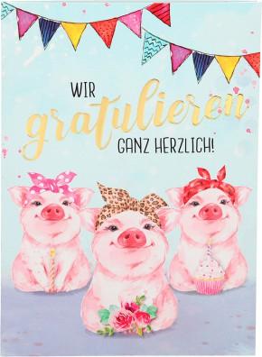 Depesche Portofino Klappkarten Geburtstagskarten 020 - Wir gratulieren ganz herzlich!