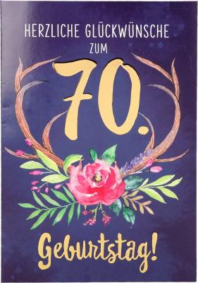 Depesche Portofino Klappkarten Geburtstagskarten 006 - Herzliche Glückwünsche zum 70. ...