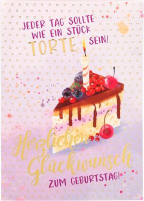 Depesche Portofino Klappkarten Geburtstagskarten 008- Jeder Tag sollte wie ein Stück Torte...