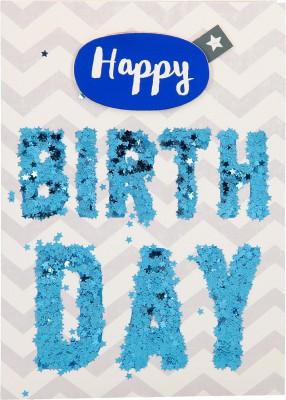 100% Glitzer Geburtstagskarte Anlasskarte Klappkarte10496-021: Happy Birthday