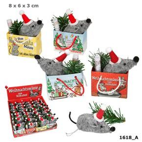 1x Geschenktüte mit Maus 1 Motiv sortiert Weihnachtsmäuse zum Verbraten