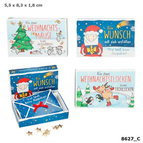 Weihnachtsgeldschachtel 1 Schachtel mit Briefumschlag Motiv sortiert