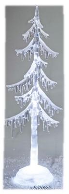 Weihnachtlicher Dekobaum 35cm Acryl mit Licht winterliche Baum Dekoration