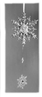 Deko Hänger Eiskristalle 45cm Weihnachtlicher Baumhänger Fensterhänger Acryl klar