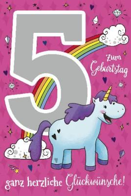 Depesche Zahlenkarten mit Musik 5 Zum Geburtstag ganz herzliche...