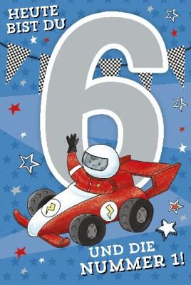 Depesche Zahlenkarten mit Musik Heute bist du 6 und die Nummer1!