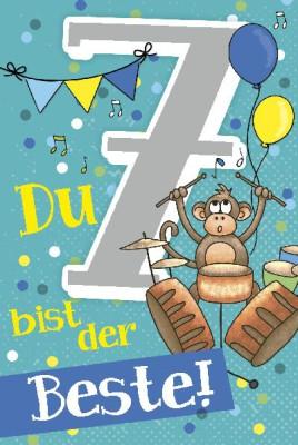 Depesche Zahlenkarten mit Musik 7 Du bist der Beste!