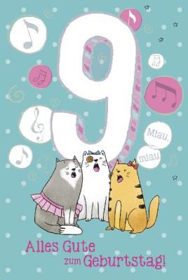 Depesche Zahlenkarten mit Musik 9 Alles Gute zum Geburtstag!