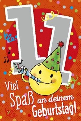 Depesche Zahlenkarten mit Musik 11 Viel Spaß an deinem Geburtstag!