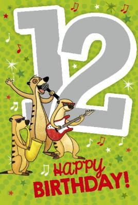 Depesche Zahlenkarten mit Musik 12 Happy Birthday!