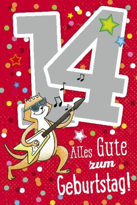 Depesche Zahlenkarten mit Musik 14 Alles Gute zum Geburtstag!