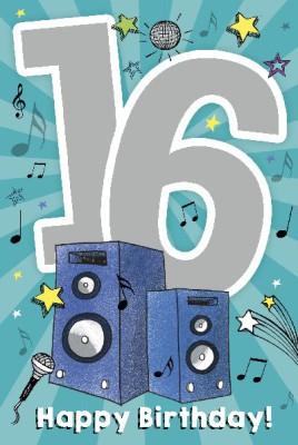Depesche Zahlenkarten mit Musik 16 Happy Birthday!