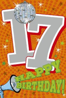 Depesche Zahlenkarten mit Musik 17 Happy Birthday!