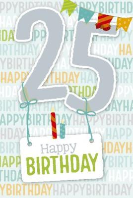 Depesche Zahlenkarten mit Musik 25 Happy Birthday