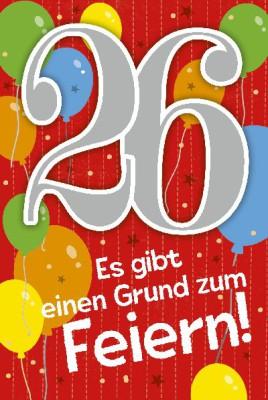 Depesche Zahlenkarten mit Musik 26 Es gibt einen Grund zum Feiern!
