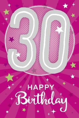 Depesche Zahlenkarten mit Musik 30 Happy Birthday