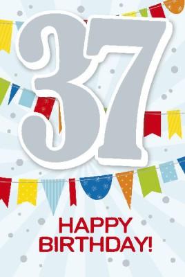 Depesche Zahlenkarten mit Musik 37 Happy Birthday