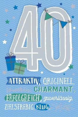 Depesche Zahlenkarten mit Musik 40 Attraktiv, originell, souverän, ...