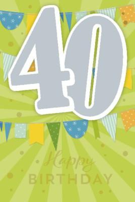 Depesche Zahlenkarten mit Musik 40 Happy Birthday