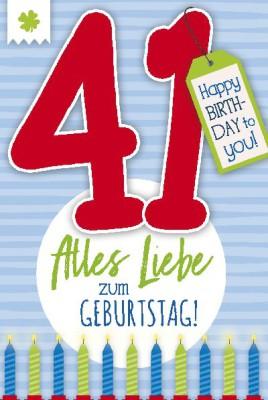 Depesche Zahlenkarten mit Musik 41 Alles Liebe zum Geburtstag!
