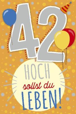 Depesche Zahlenkarten mit Musik 42 Hoch sollst du LEBEN!