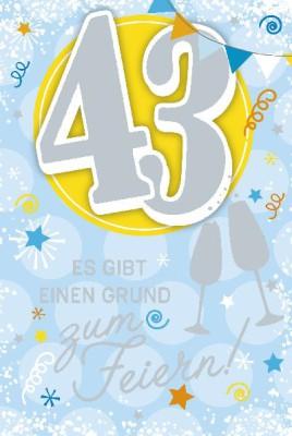Depesche Zahlenkarten mit Musik 43 Es gibt einen Grund zum Feiern!
