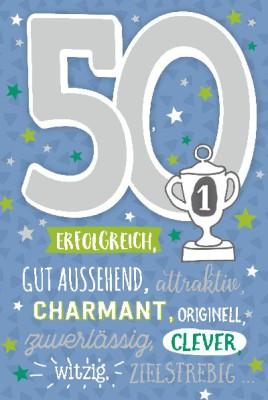 Depesche Zahlenkarten mit Musik 50 Erfolgreich, gut aussehend, ...
