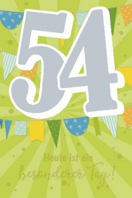Depesche Zahlenkarten mit Musik 54 Heute ist ein besonderer Tag!