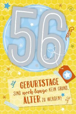 Depesche Zahlenkarten mit Musik 56 Geburtstage sind noch lange...