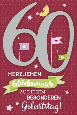 Depesche Zahlenkarten mit Musik 60 Herzlichen Glückwunsch zu diesem...