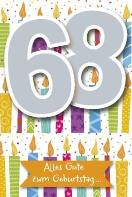 Depesche Zahlenkarten mit Musik 68 Alles Gute zum Geburtstag