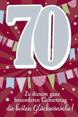 Depesche Zahlenkarten mit Musik 70 Zu diesem besonderen Geburtstag...