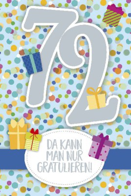 Depesche Zahlenkarten mit Musik 72 Da kann man nur gratulieren!
