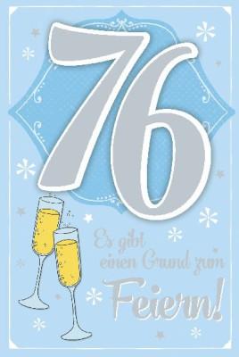 Depesche Zahlenkarten mit Musik 76 Es gibt einen Grund zum Feiern!