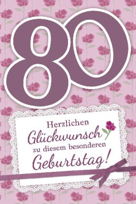 Depesche Zahlenkarten mit Musik 80 Herzlichen Glückwunsch zu diesem...