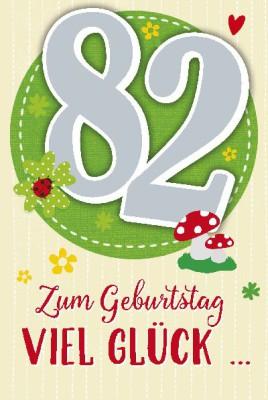 Depesche Zahlenkarten mit Musik 82 Zum Geburtstag viel Glück