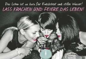 Lustige Sprüche Karten Undercover 028 Das Leben ist zu kurz für Knäckebrot...