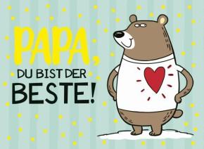 Klappkarten Grüße in Gold 051 Papa, du bist der Beste!