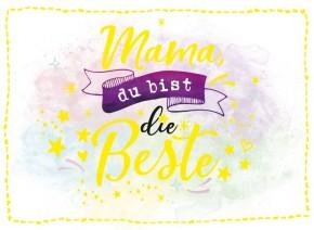 Klappkarten Grüße in Gold 052 Mama, du bist die Beste!