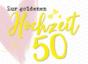 Klappkarten Grüße in Gold 076 50 Zur goldenen Hochzeit